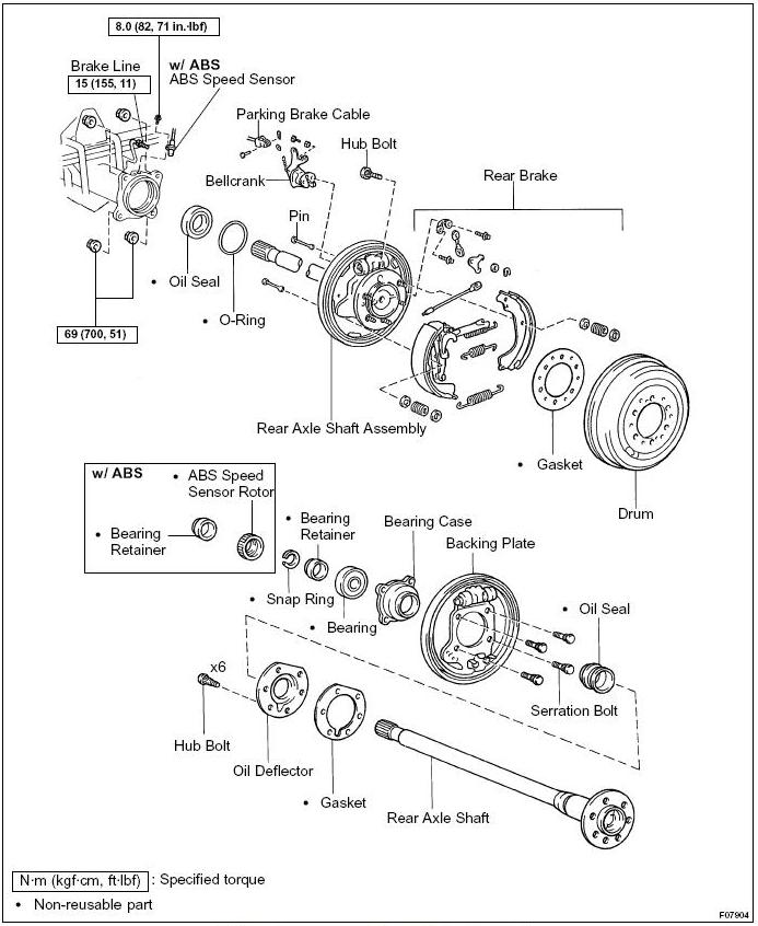 2000 toyota front differential diagram